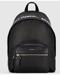 "Neil Barrett ""made In "" Nylon & Leather Classic Backpack - Black"