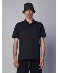 Neil Barrett Minimalist Bolt Badge Polo Shirt - Black
