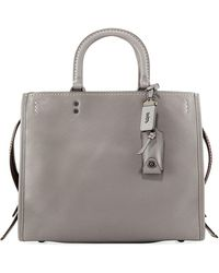 COACH - Rogue Mixed Leather Tote Bag - Lyst