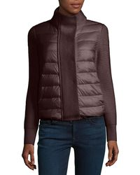Moncler - Maglione Quilted-tricot Cardigan Jacket - Lyst