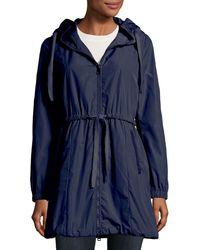 Moncler - Topaze Long Self-tie Top Coat W/ Hood - Lyst