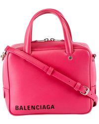 Balenciaga - Triangle Square Xs Leather Crossbody Bag - Lyst
