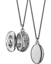 Monica Rich Kosann - Silver Midi 4-image Locket Necklace - Lyst