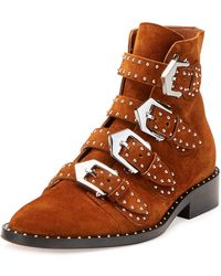 Givenchy - Elegant Studded Suede Ankle Boot - Lyst