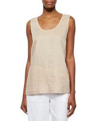 Go> By Go Silk - Plus Size Linen Scoop-neck Tank - Lyst