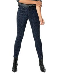 Joe's Jeans The Charlie Snake-print Ankle Jeans - Blue