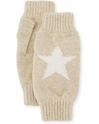 Rosie Sugden Star Intarsia Wrist Warmers - Natural