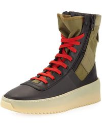 Fear Of God - Men's Jungle High-top Sneakers With Canvas Insets - Lyst