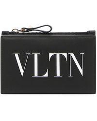 Valentino - Vltn Logo Coin Purse/card Case - Lyst