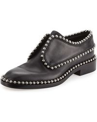 Alexander Wang - Wendie Studded Leather Slip-on Oxford - Lyst