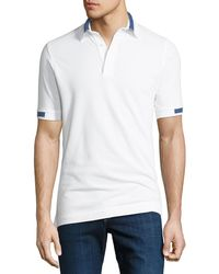Kiton - Men's Pique Knit Cotton Polo Shirt - Lyst