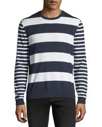 Michael Kors - Mixed Striped Cotton Sweater - Lyst
