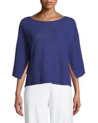 Eileen Fisher - Organic Linen Handkerchief-sleeve Top - Lyst