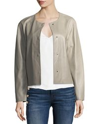 J Brand | Cecilia Snap-front Leather Jacket | Lyst