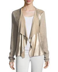 Elie Tahari - Richardson Metallic-knit Sweater - Lyst