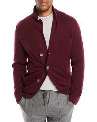 Brunello Cucinelli - Men's Cashmere Button-front Knit Cardigan Jacket - Lyst