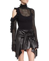 Magda Butrym Boa Vista Open-knit Bodysuit - Black