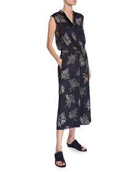 Vince - Woodblock Floral Sleeveless Jumpsuit - Lyst