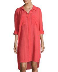 Seafolly - Crinkle Twill Beach Coverup Shirt - Lyst