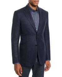 Brioni - Men's Textured Wool-blend Blazer - Lyst