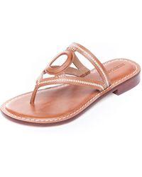 Bernardo Tania Cutout Leather Thong Sandals - Pink