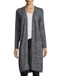 Velvet - Marled Jersey Open-front Cardigan - Lyst