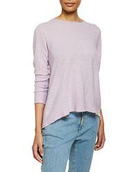 Eileen Fisher Organic Linen Long-sleeve Tunic - Purple