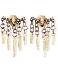 Armenta Old World Diamond Crivelli Shaker Earrings - Metallic