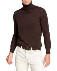 Brioni - Men's Solid Cashmere Turtleneck Sweater - Lyst