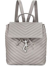Rebecca Minkoff - Edie Quilted Flap Backpack - Lyst