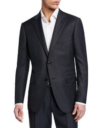 Ermenegildo Zegna - Men's Tonal Stripe Two-piece Wool/silk Suit - Lyst