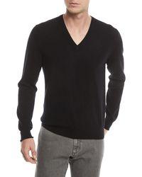 Ermenegildo Zegna - Cashmere V-neck Pullover Sweater - Lyst