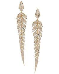 Stephen Webster - Rose Gold And Pav Diamond Magnipheasant Drop Earrings - Lyst