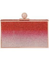 Sophia Webster Clara Crystal Box Clutch Bag - Red