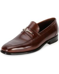 Stefano Ricci - Calf Leather Classic Loafer - Lyst