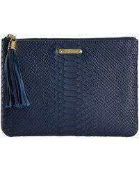 Gigi New York All In One Clutch Bag - Blue