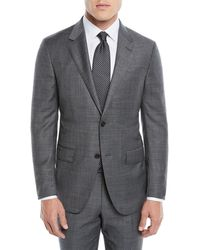 Ermenegildo Zegna - Men's Heathered Solid Two-piece Suit - Lyst