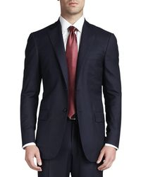 Isaia - Solid Wool Suit - Lyst