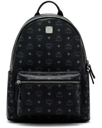MCM - Stark No Stud Medium Leather Backpack - Lyst