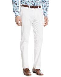 Canali - Stretch-cotton Flat-front Dress Pants - Lyst
