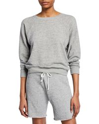 RE/DONE 50s Crewneck Pullover Sweatshirt - Gray