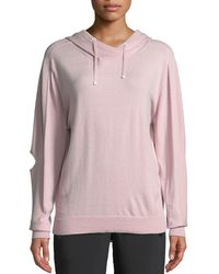BLANC NOIR - Clandestine Hooded Open-elbow Pullover Sweater - Lyst
