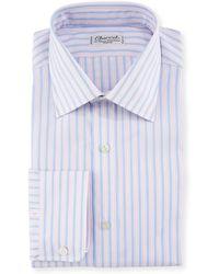 Charvet - Men's Tricolor Stripe Dress Shirt - Lyst