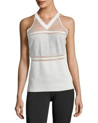 BLANC NOIR - Vue Paneled Sweater Tank Top - Lyst