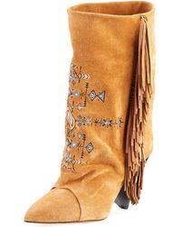 Isabel Marant - Lesten Santa Fe Embroidered Boot - Lyst
