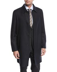 Brioni - Single-breasted Wool Button-front Car Coat - Lyst