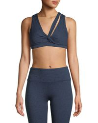 Lanston - Enzo Loop V-neck Sports Bra - Lyst
