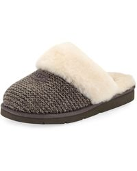d52a9a643dc UGG Rubber Cozy Cable Slippers in Natural - Lyst