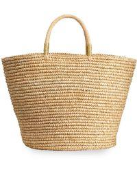 Sensi Studio Maxi Woven Straw Basket Tote Bag - Natural