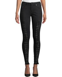 True Religion - Jennie Curvy Mid-rise Lace-up Jeans - Lyst